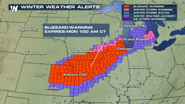 Blizzard Warnings Continue For The Midwest