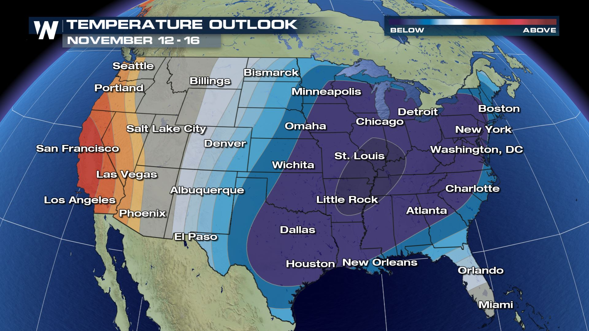 December-Like Weather to Invade North-Central U.S.