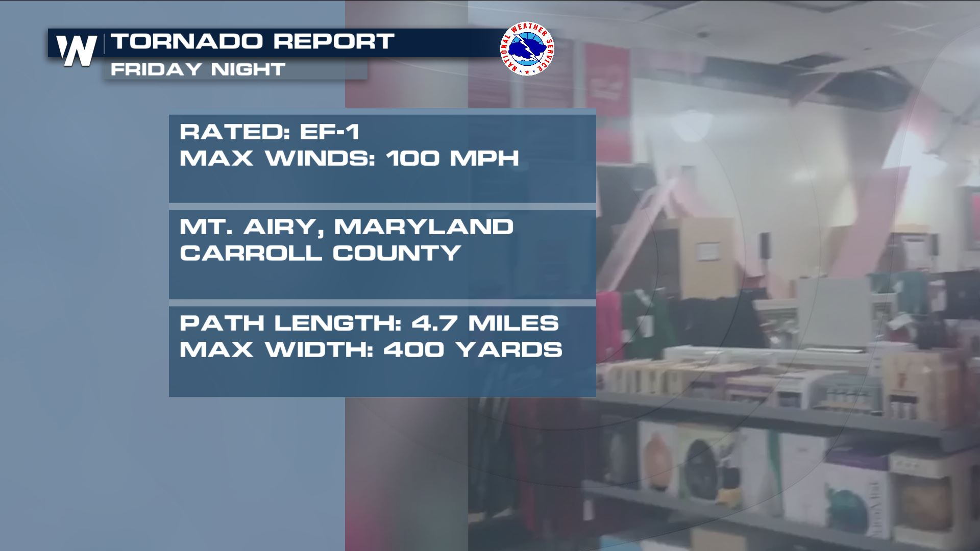 Tornadoes Confirmed in Maryland Friday Night - WeatherNation