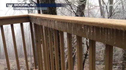 North Carolina Today: Freezing Rain, Waterspout, and Tidal Flooding