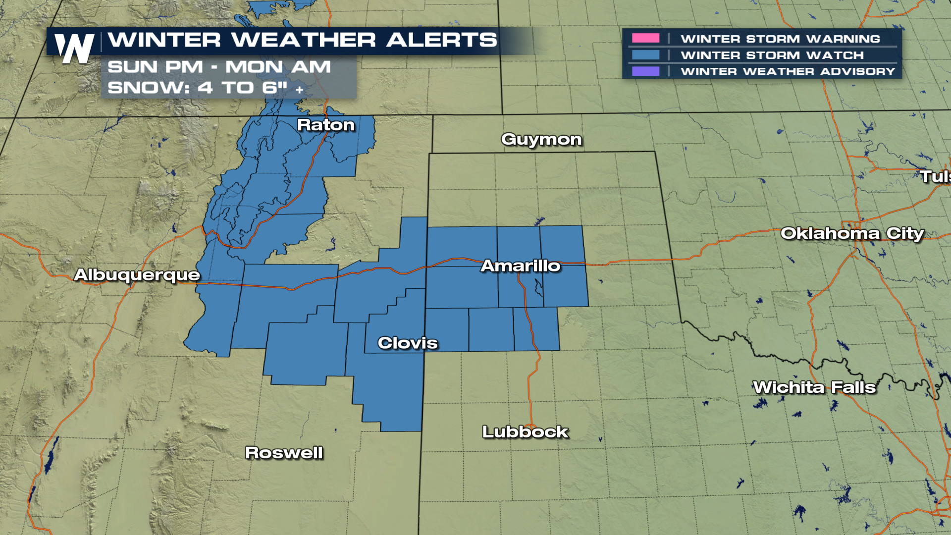 Sunday Snow For The Rockies And The Central U S  - WeatherNation