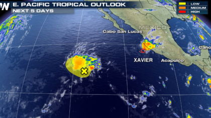 Tropical Storm Xavier Inching Away from Mexico Coastline