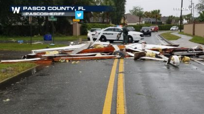 Reports of Damage as Tornado-Warned Storms Slam Florida