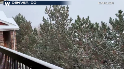 Snow Continues from New Mexico to Missouri