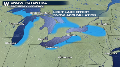 Lake Effect Snow for the Great Lakes this Weekend
