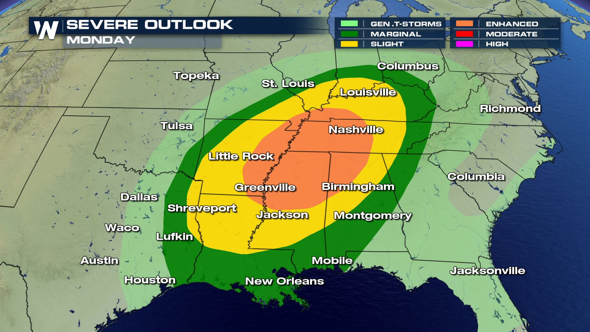 Little Rock Weather Map.Your Extended Severe Weather Forecast Weathernation