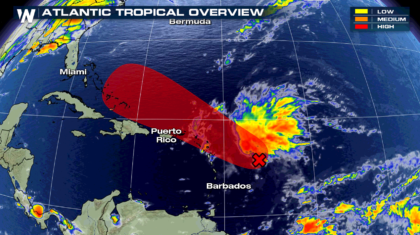 Tropical Development Likely Near the Greater Antillies