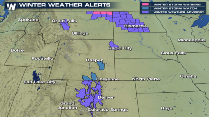 Snowfall Accumulations for the High Plains and Rockies
