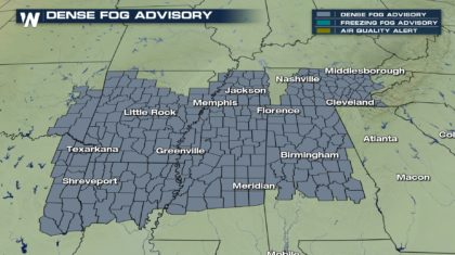 Dense Fog In The Southeast