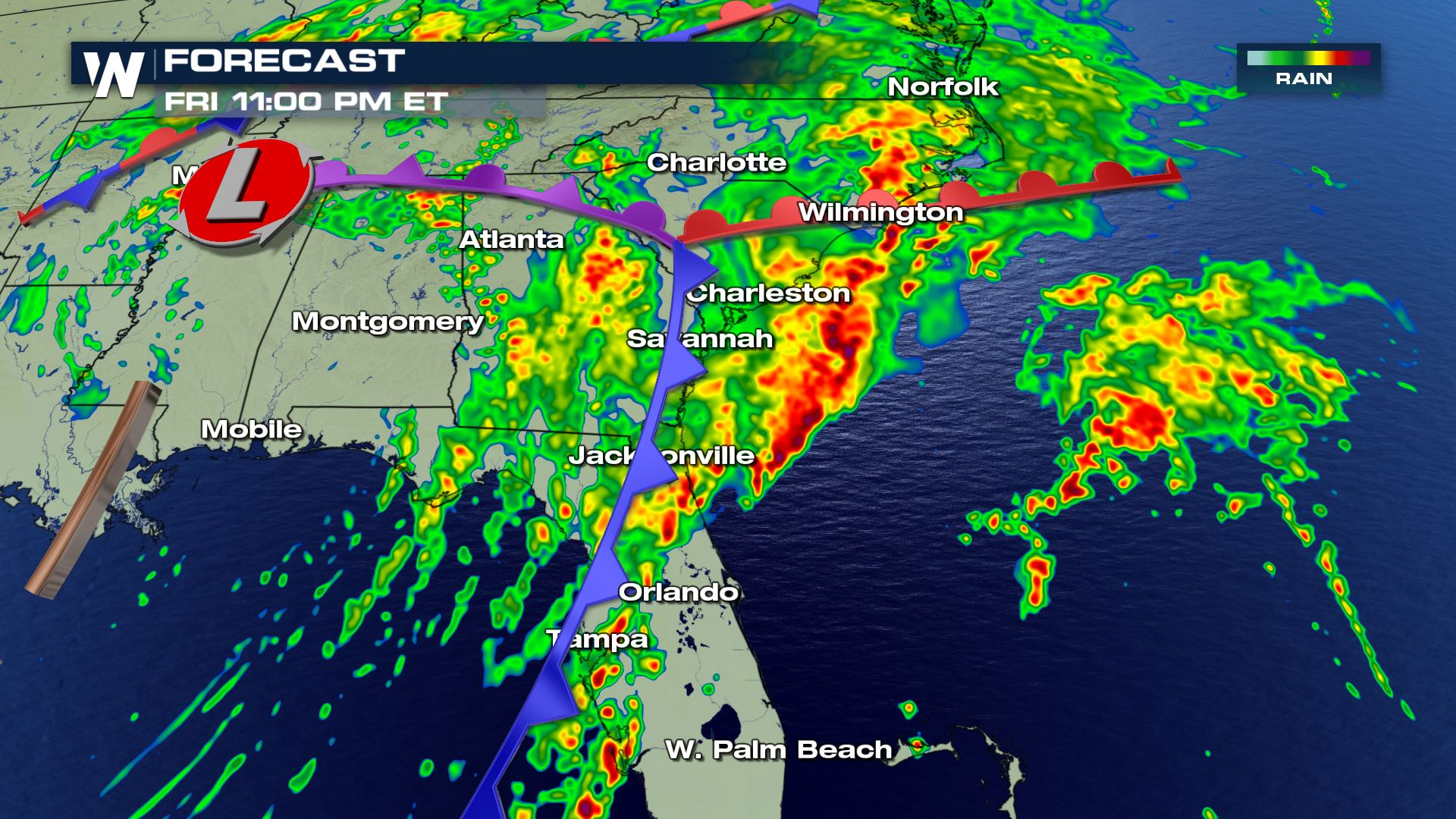 severe thunderstorm issued for florida