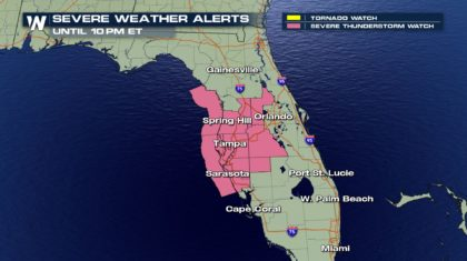 Severe Thunderstorm Watch Issued for Florida
