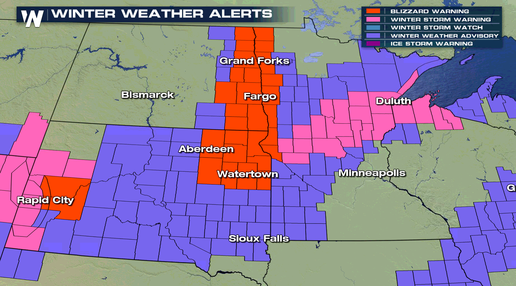 Blizzard Warnings In The Upper Midwest To End 2018 Weathernation
