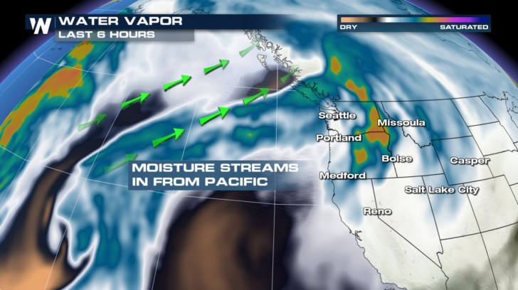 Another Blast Of Winter Weather Headed For The West Weathernation - Us-water-vapor-map