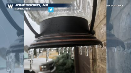 Northern Arkansas Icing Over as the Winter Storm Moves East