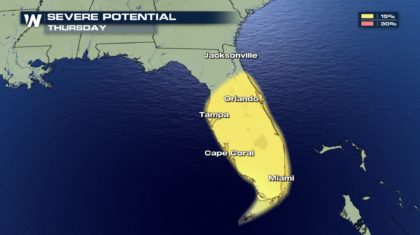 Severe Threat for Florida on Thursday