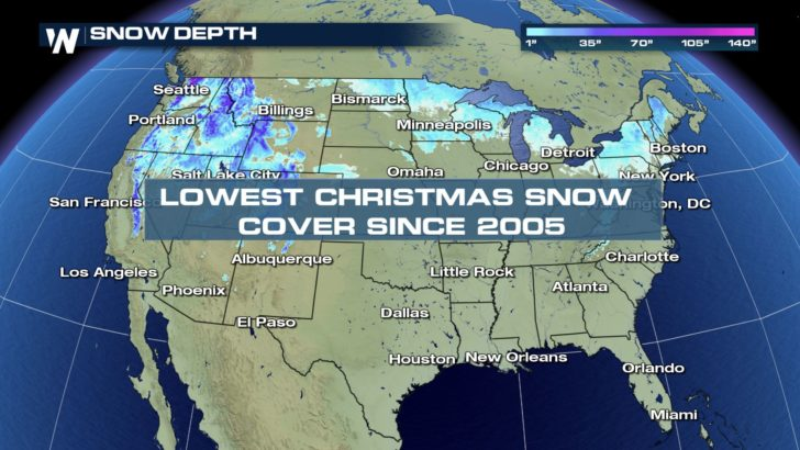 Lowest Christmas U.S. Snow Coverage Since 2005 - WeatherNation