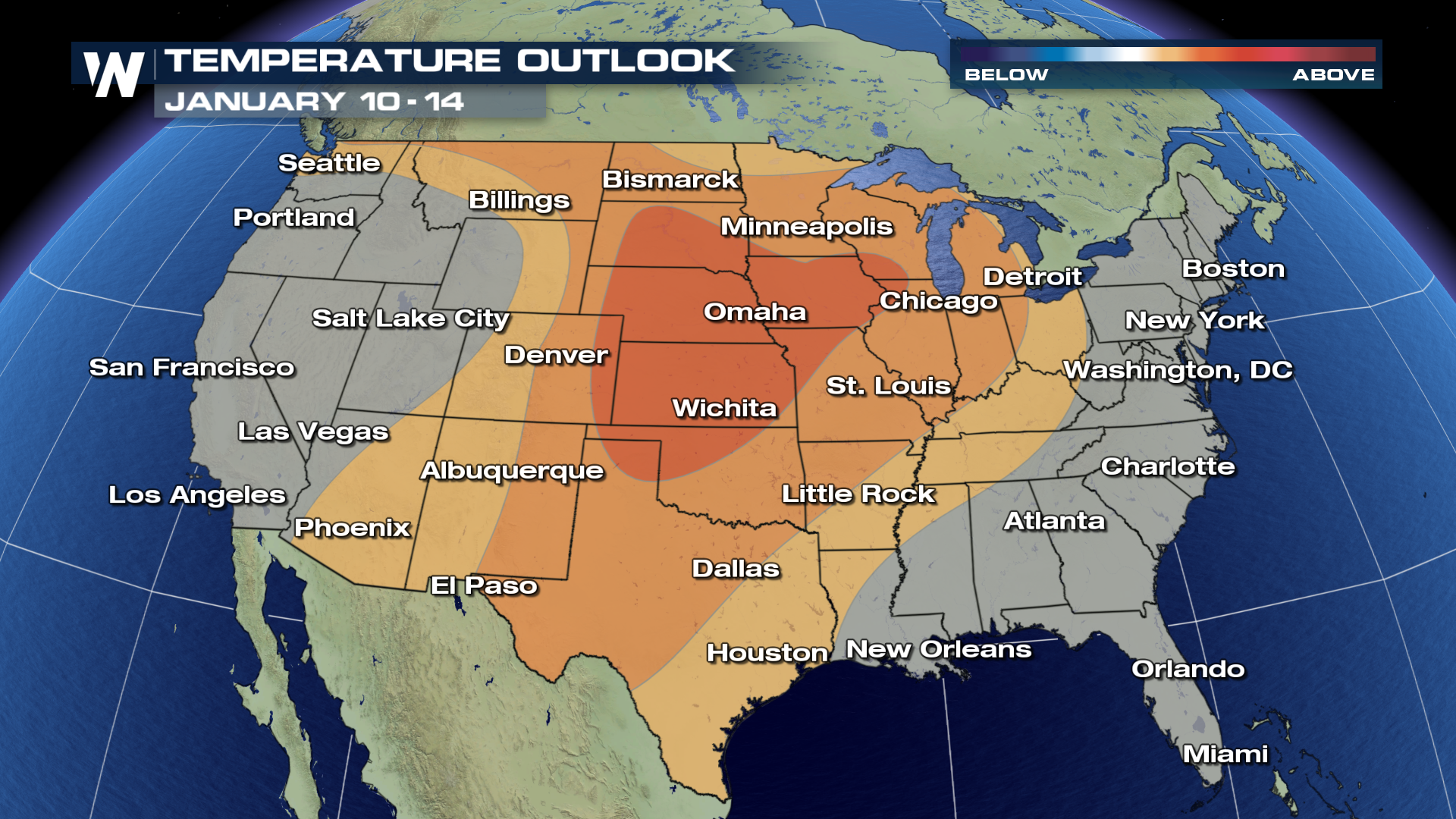 Looks Like Mild Weather Ahead For The Us Weathernation - Us-weather-map-with-temperatures