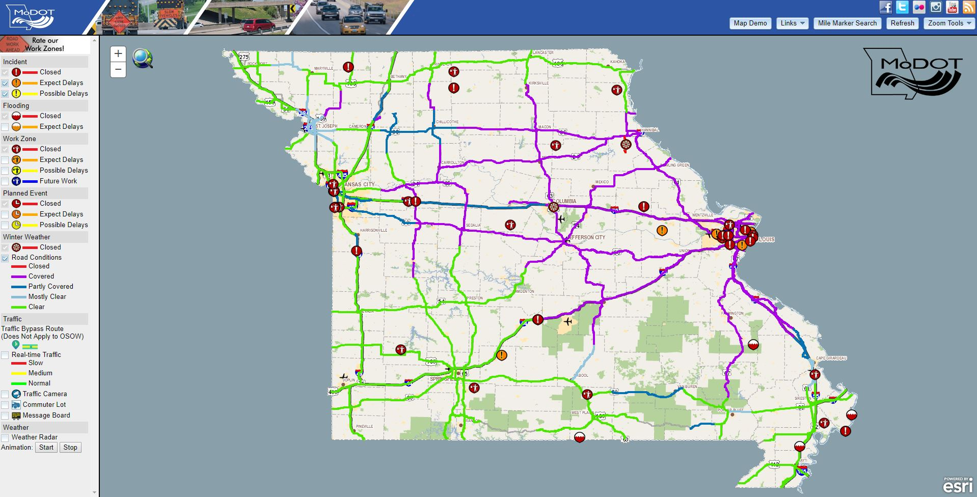 Major Roadways Shut Down in Missouri