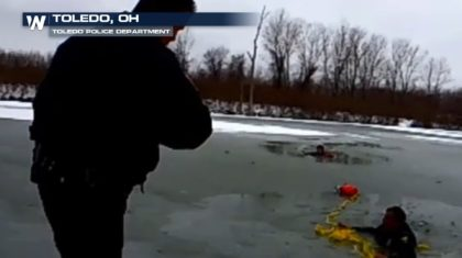 Caught on Camera: Officer's Icy Rescue in Ohio