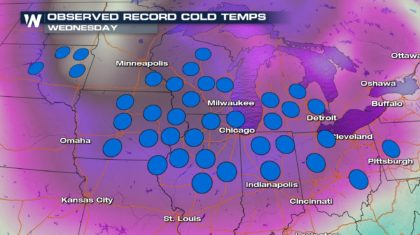 VIDEO: Record Cold Wednesday Recap