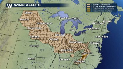 Wild Winds Continue Into Workweek