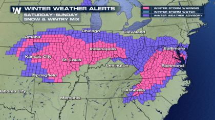 Winter Storm Continues Across The Eastern U.S.