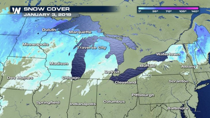 below normal in lake-effect snow country