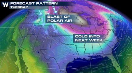 Another Blast Of Cold For Midwest And Northeast