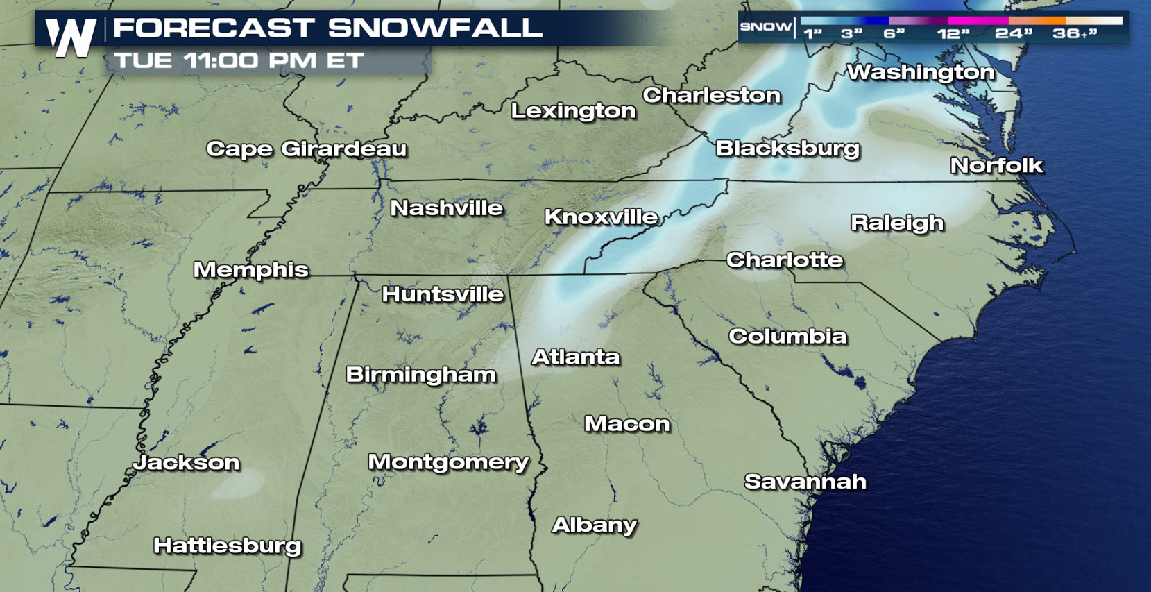Winter Storm Alerts Posted for the Southeast and