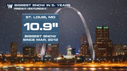 Washington, Baltimore, St. Louis See Biggest Snowstorm in Years