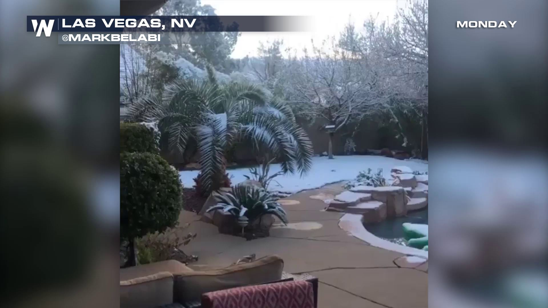 Snow Again in Las Vegas, What's Up With That?!