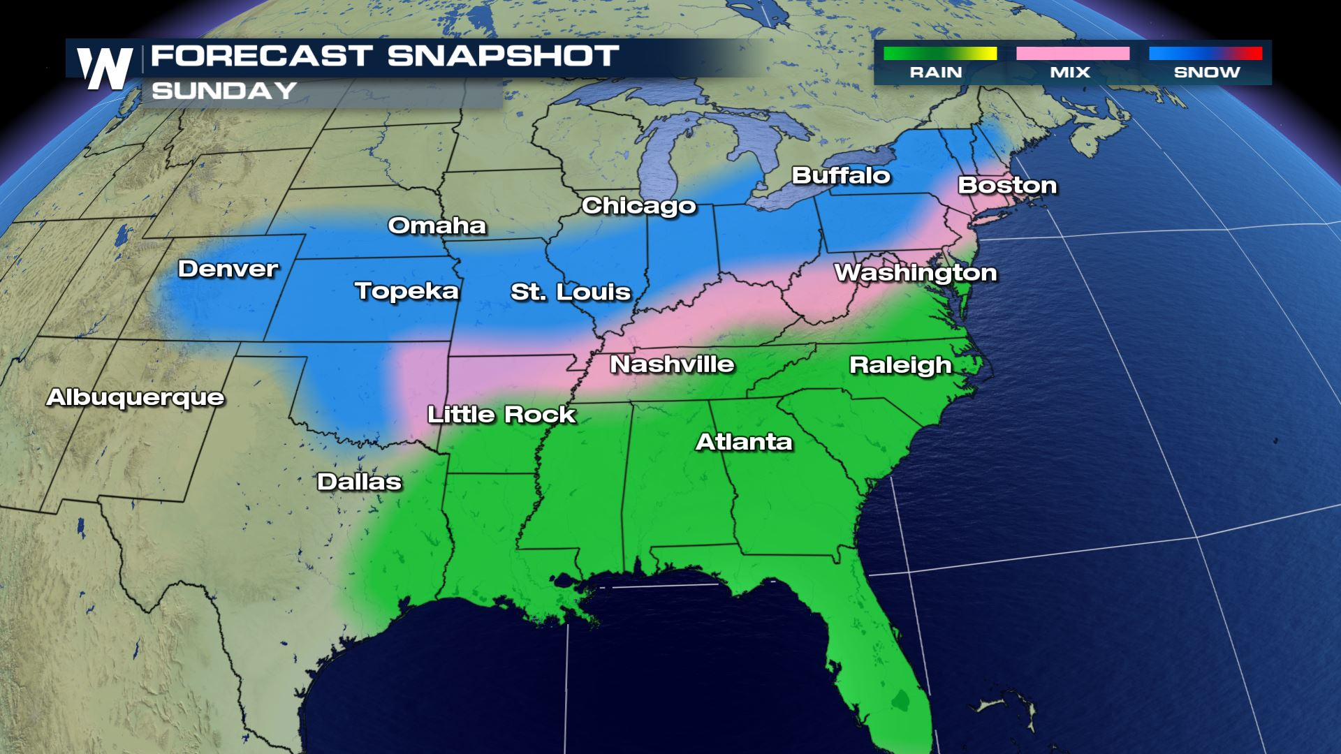 Weekend Storm On The Way For Eastern U.S.