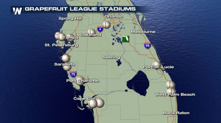 Spring Training Forecasts! - WeatherNation