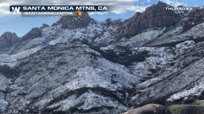 Rare Snow for Parts of Southern California