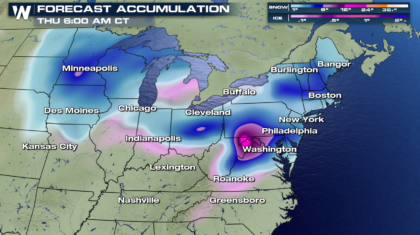 Snow, Ice from the Midwest to the Northeast