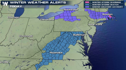 President's Day Winter Storm For The Northeast