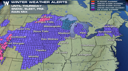 Another Round of Snow, Ice and Cold for the North and Plains