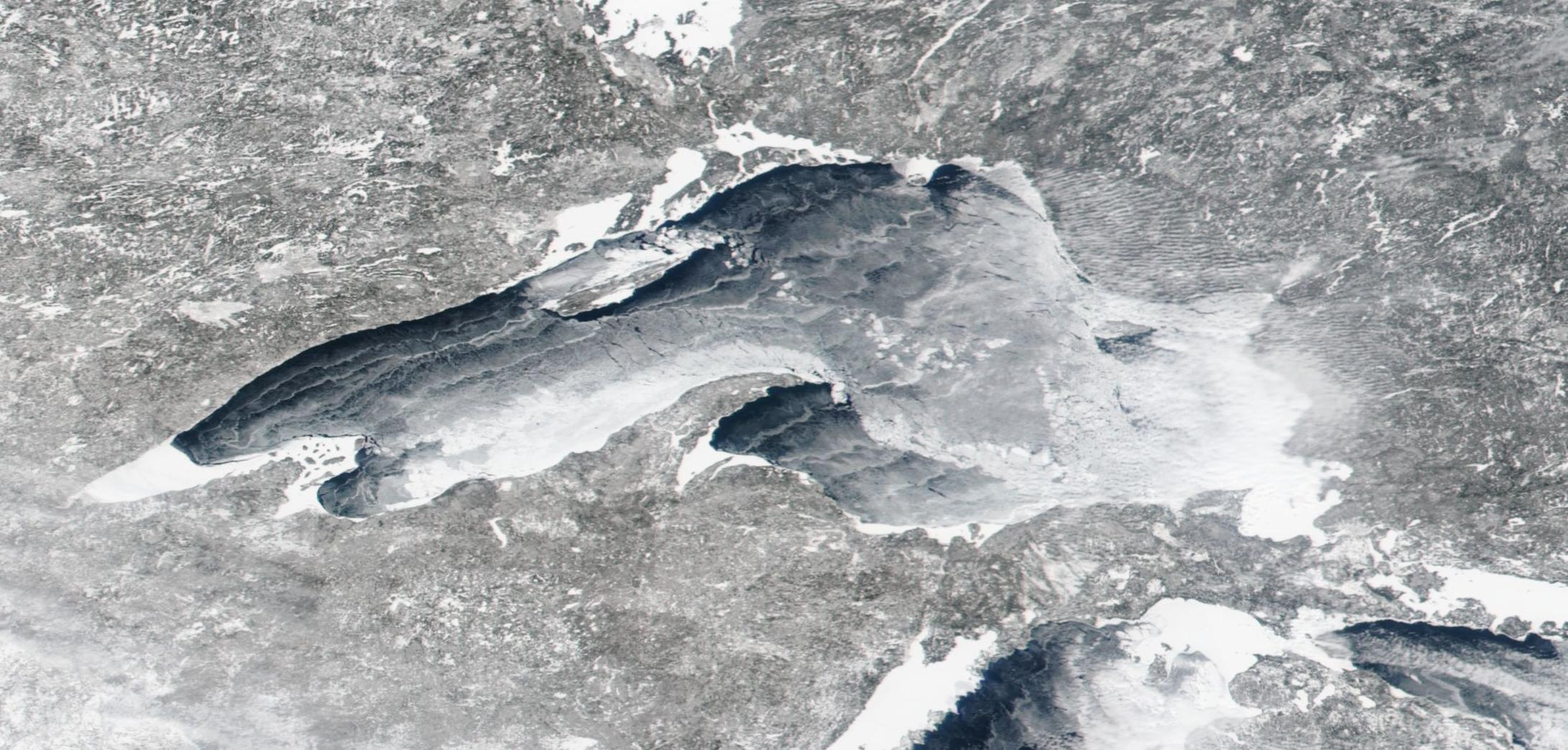 Watch as Lake Superior Transforms from Water to Ice