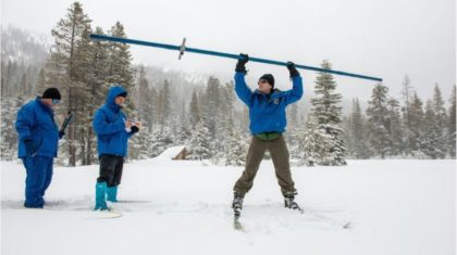 Sierra Snowpack Doubles in February
