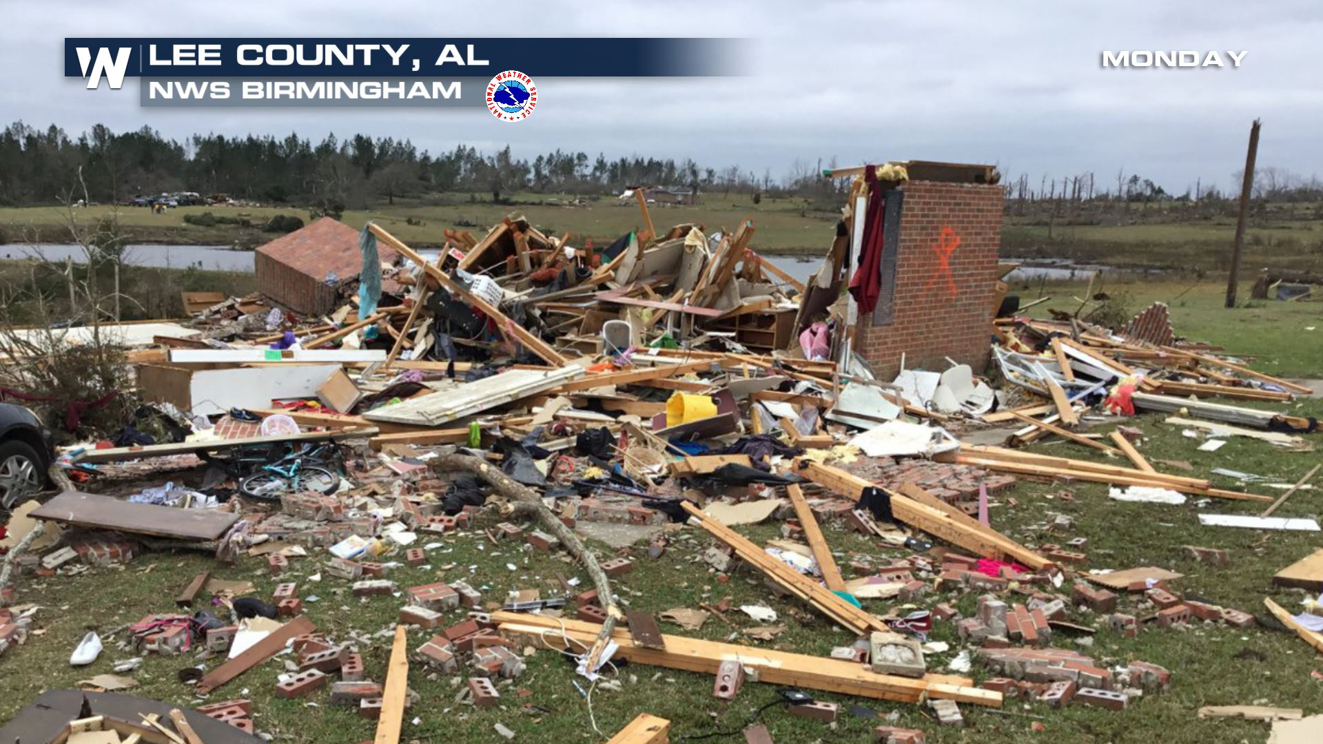 Preliminary Rating of EF-4 for Alabama Tornado