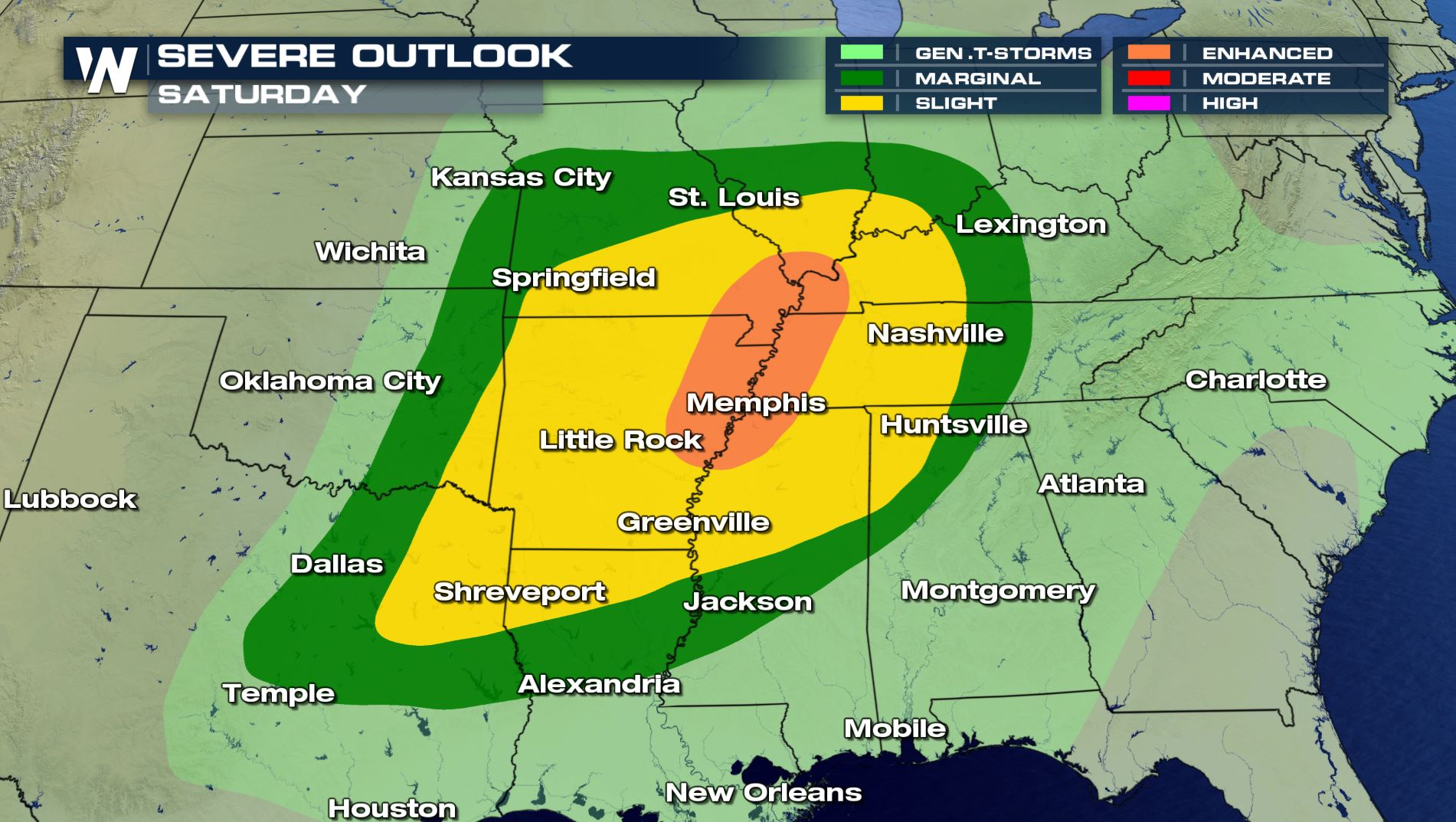 Severe Weather Threats Return This Weekend for the South