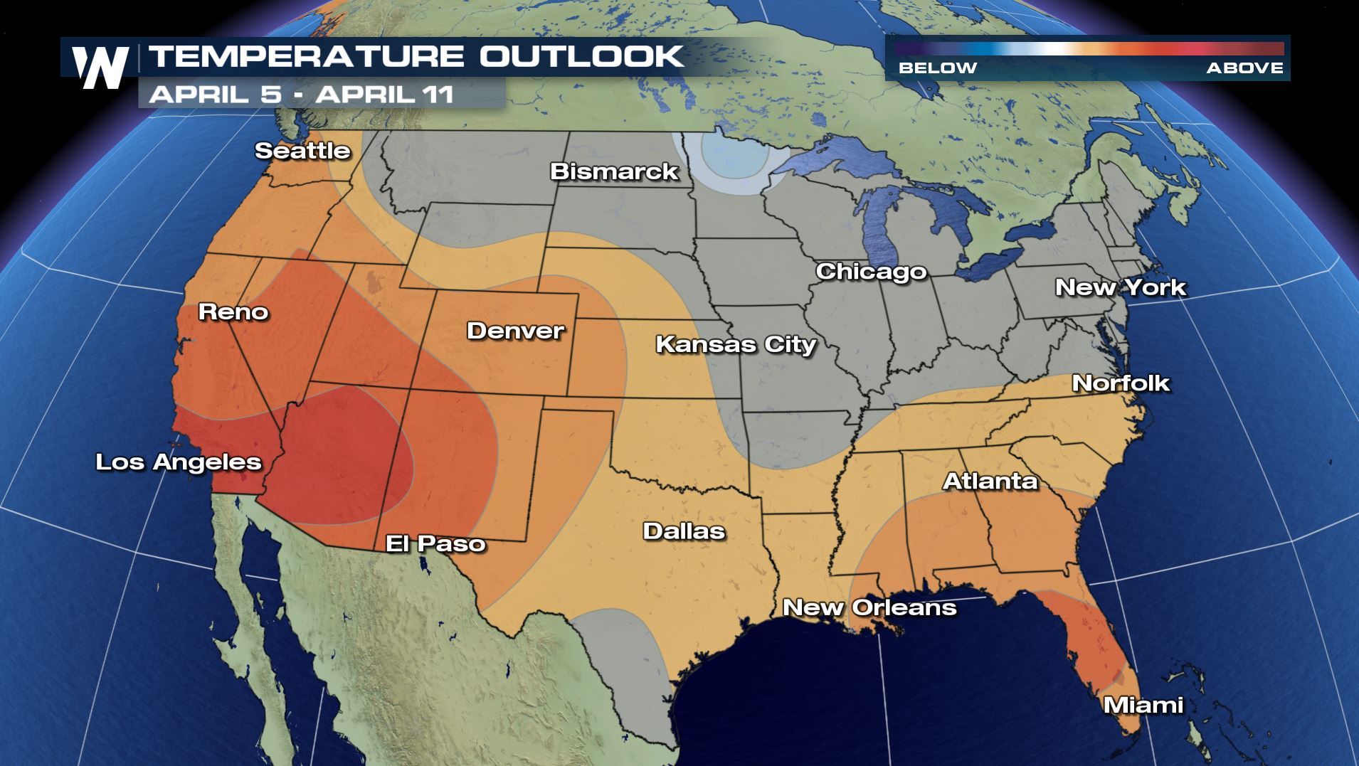 Temperatures On A Spring Roller Coaster Ride Weathernation - Us-weather-map-with-temperatures