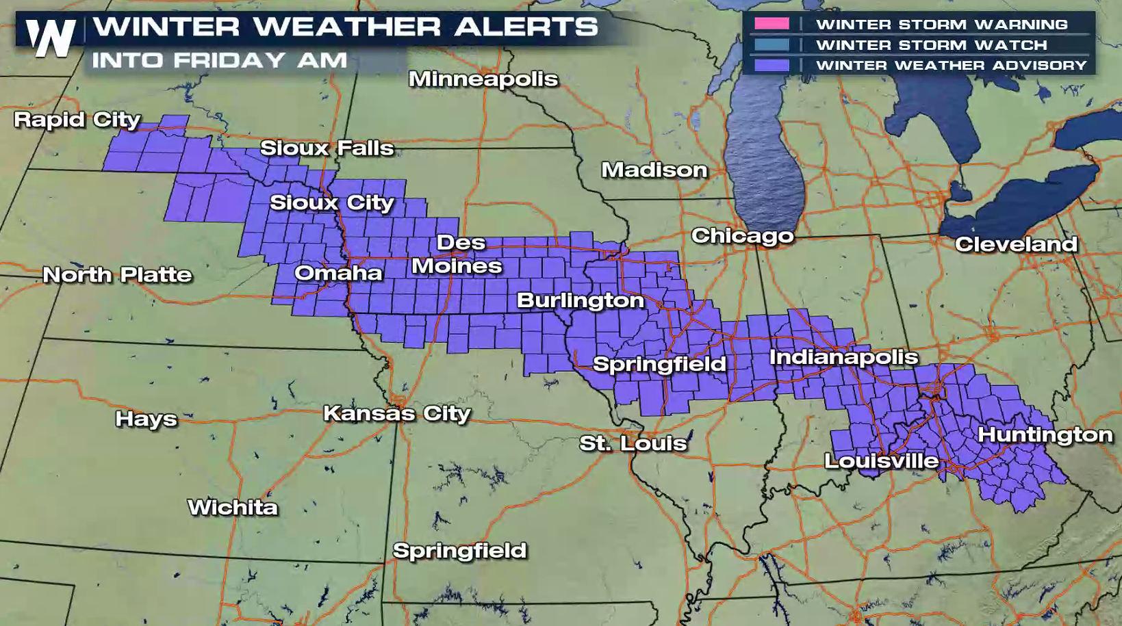 Another Quick Burst Of Snow For The Central U S  - WeatherNation
