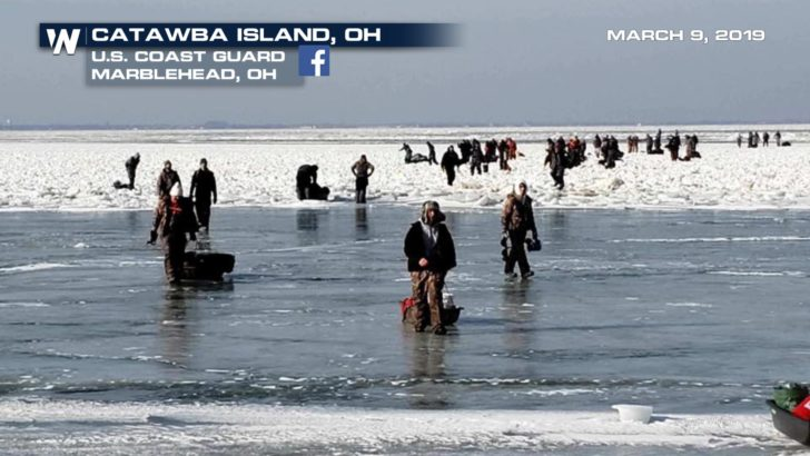Ice Floe Strands 150 People on Lake Erie