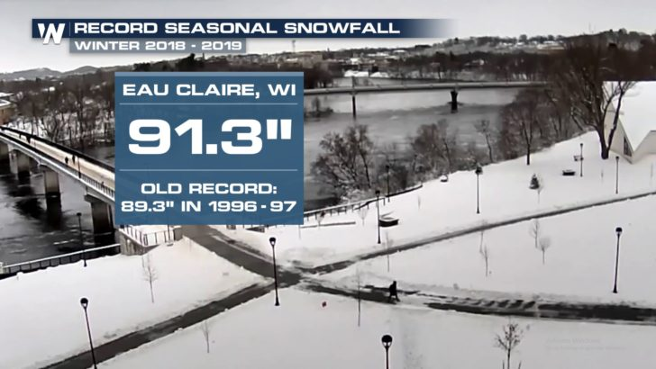 Snowiest Winter on Record in Eau Claire, Wisconsin