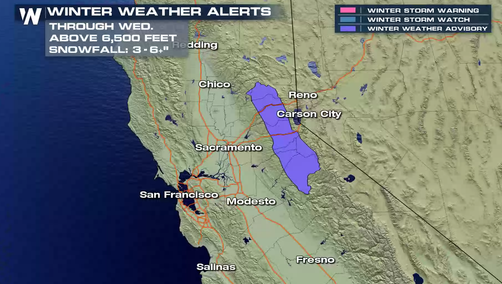 Heavy Snow In The Sierra Nevada And Sierra Madre Mountains Weathernation