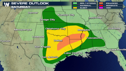Weekend Severe Weather Threat in the Southern Plains & Lower Mississippi Valley
