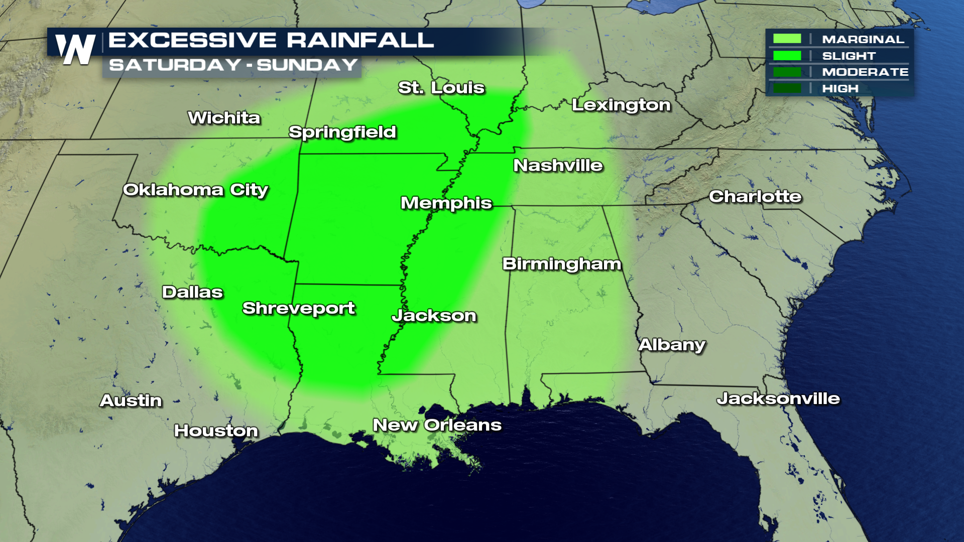 Map Of Texas Oklahoma And Louisiana.Excessive Rainfall Remains In The Forecast Weathernation