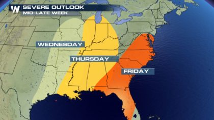 Another Severe Threat Looms Midweek