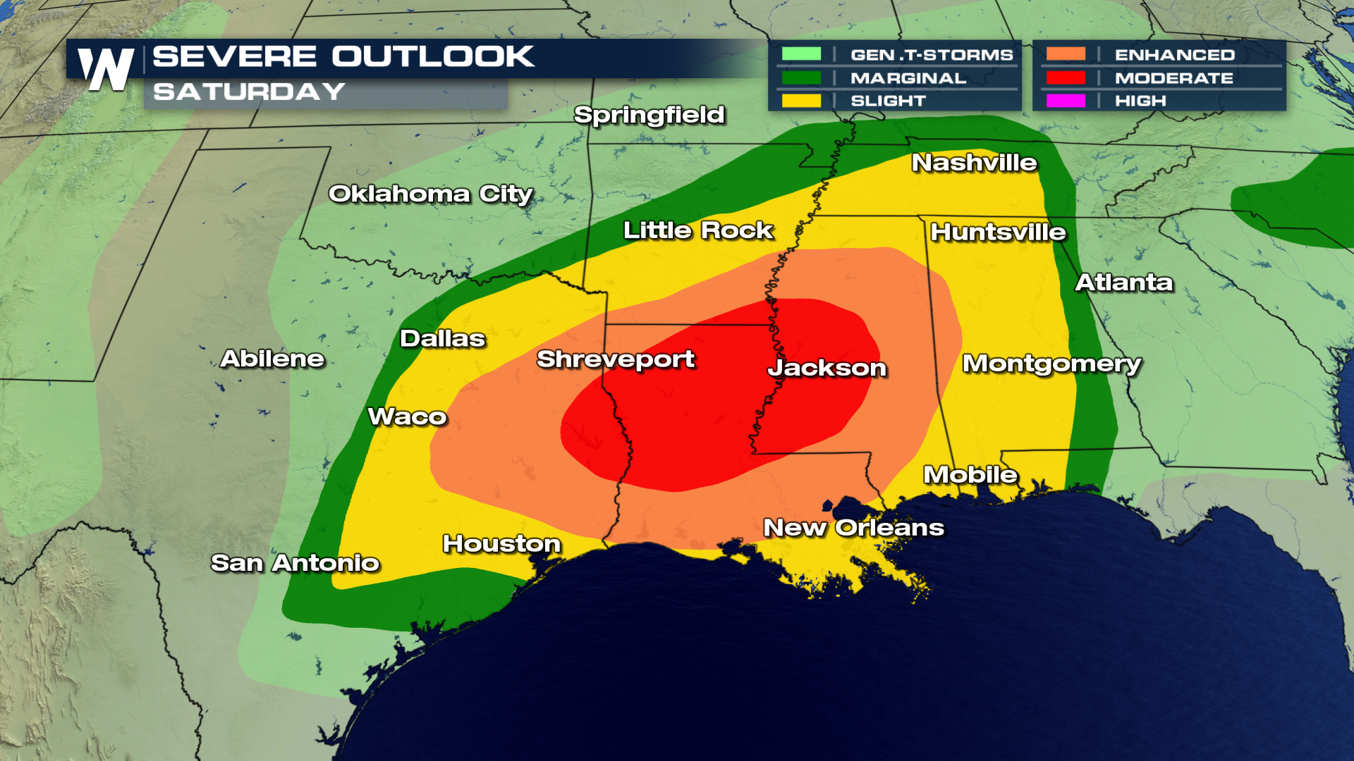 Dangerous Weekend Severe Threat Looms